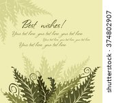 vector background with fern... | Shutterstock .eps vector #374802907
