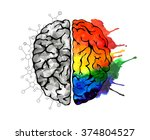 creative concept of the human... | Shutterstock . vector #374804527