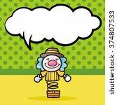 clown doodle  speech bubble | Shutterstock .eps vector #374807533
