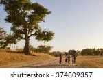 african children going back to... | Shutterstock . vector #374809357
