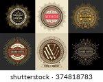 vintage logo template  hotel ... | Shutterstock .eps vector #374818783