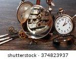 hour workshop. vintage still... | Shutterstock . vector #374823937