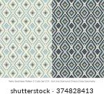 Retro Seamless Pattern 2 Color...