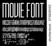 movie font design | Shutterstock .eps vector #374828443