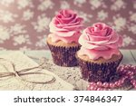 Cupcakes With Sweet Rose...