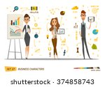 business characters set | Shutterstock .eps vector #374858743