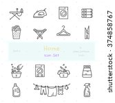 Home Stuff Outline Icon Set Of...