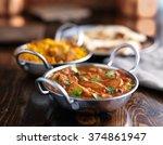 indian butter chicken curry in... | Shutterstock . vector #374861947