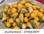 dessert thai sweet sugar palm...   Shutterstock . vector #374863897