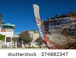 Decaying Colorful Boat Hull...