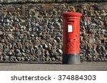 Red English Pillar Box Or Post...