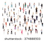 workforce concept isolated... | Shutterstock . vector #374888503