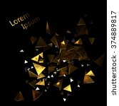 abstraction of shiny triangles... | Shutterstock . vector #374889817