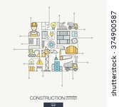 construction integrated thin... | Shutterstock .eps vector #374900587