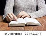 closeup woman hand  holding... | Shutterstock . vector #374911147