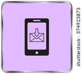 smart phone icon  vector... | Shutterstock .eps vector #374923873