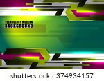 technology abstract green... | Shutterstock .eps vector #374934157