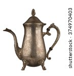Silver Vintage Tea Kettle With...