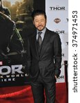 """Small photo of LOS ANGELES, CA - NOVEMBER 4, 2013: Tadanobu Asano at the US premiere of his movie """"Thor: The Dark World"""" at the El Capitan Theatre, Hollywood. Picture: Paul Smith / Featureflash"""