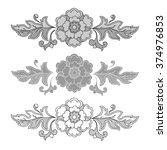 vintage floral raster seamless...   Shutterstock . vector #374976853