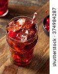 sweet refreshing cherry cola...   Shutterstock . vector #374984287