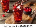 sweet refreshing cherry cola... | Shutterstock . vector #374984323