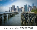 manhattan view from brooklyn | Shutterstock . vector #374992507