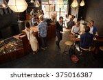 popular modern coffee shop busy ... | Shutterstock . vector #375016387