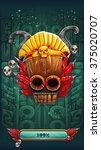 jungle shamans mobile game user ... | Shutterstock .eps vector #375020707