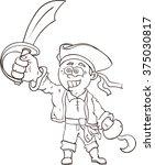 cartoon pirate  vertor... | Shutterstock .eps vector #375030817