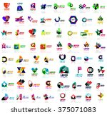 mega set of geometrical... | Shutterstock .eps vector #375071083