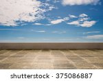 Empty Roof Top With Blue Sky...