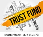 trust fund word cloud  business