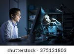 engineering team working in the ... | Shutterstock . vector #375131803