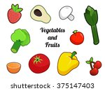 vegetables and fruits ... | Shutterstock . vector #375147403