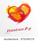 love heart . red heart . heart... | Shutterstock .eps vector #375149173