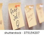 adhesive note with good job... | Shutterstock . vector #375154207