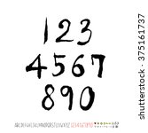alphabet   number   handwriting ... | Shutterstock .eps vector #375161737