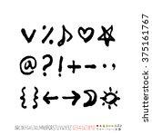 alphabet   number   handwriting ... | Shutterstock .eps vector #375161767
