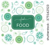 fresh food logo vector template | Shutterstock .eps vector #375162523