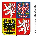 coat of arms of the czech... | Shutterstock .eps vector #37516387