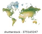 illustration world map and the... | Shutterstock . vector #375165247