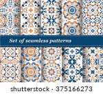 set of mexican stylized... | Shutterstock .eps vector #375166273