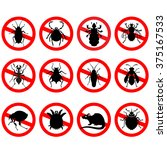 set of household pests in pure... | Shutterstock .eps vector #375167533