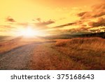 autumn landscape in the sunset | Shutterstock . vector #375168643