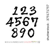 alphabet   number   handwriting ... | Shutterstock .eps vector #375171757