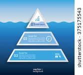 infographic design with iceberg ... | Shutterstock .eps vector #375175543