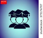 students. education symbol.... | Shutterstock .eps vector #375176707