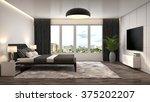 bedroom interior. 3d...   Shutterstock . vector #375202207