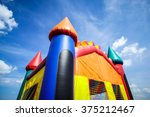 children's inflatable jumpy... | Shutterstock . vector #375212467